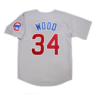 Kerry Wood Chicago Cubs Home White & Road Grey Men's Jersey w/ Patch