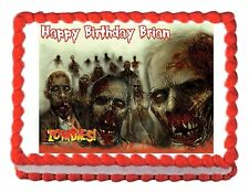 Zombies edible party cake topper decoration cake frosting sheet