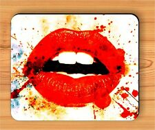 SENSUAL RED SEXY LIPS MOUSE PAD -uhu5Z