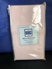 The Big One Standard/Queen Pillowcases Pink 275 Thread Count New