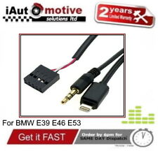 BMW 3 5 Series X5 3.5 AUX IN Adapter iPod iPhone Music Media Cable E39 E46 E53