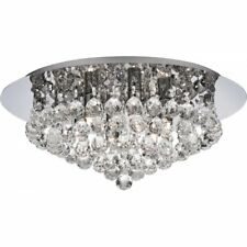Hanna Stunning 6 Light Crystal Flush Ceiling Light In Polished Chrome 3406-6CC