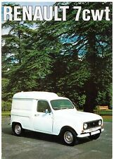 Renault 4 7cwt Van & Pick Up 1975-76 UK Market Sales Brochure