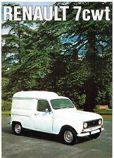 Renault 4 7cwt Van & Pick Up 1975-76 UK Market Sales Brochure