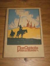 Don Chisciotte di la Mancia Miguel de Cervantes De Saavedra stampa a colori per immagini 1910