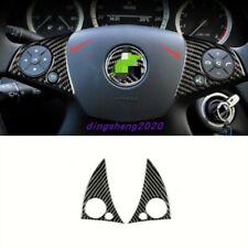 Carbon fiber Steering Wheel Button Decor Cover Trim For Mercedes Benz C250 07-13