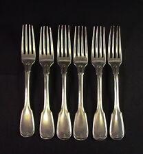 - 6 - Gabeln mit Fadenmuster  - WOLLENWEBER 13 Lot  -  350gr Silber