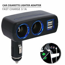 DC 12V Car Cigarette Lighter Adapter 2 Way Double Plug Socket Charger Splitter