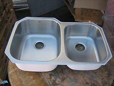 Stainless Steel 18 Gauge Offset Double Bowl Undermount Kitchen Sink