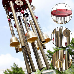 Large Wind Copper Bells Chimes Garden Yard Outdoor Home Decor Tubes Ornament UK