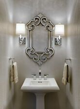 ORNATE ANTIQUE VENETIAN STYLE WALL MIRROR VANITY BATHROOM FOYER BATH NEW