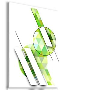 ABSTRACT GREEN RABBIT CANVAS WALL ART PICTURE  AB663 MATAGA UNFRAMED-ROLLED