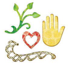Sizzix Sizzlits Die - Flourish, Hand, Heart & Vine - 658472 - Indian Wedding