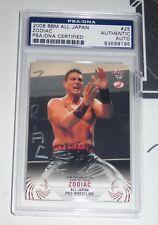 Aaron Aguilera Jesus Zodiac Signed 2008 BBM All Japan Pro Wrestling Card PSA/DNA
