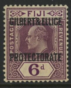 GILBERT & ELLICE ISLANDS, MINT, #6, OG LH, GREAT CENTERING