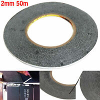 BLACK DOUBLE SIDED AUTOMOTIVE SELF ADHESIVE TAPE PERMANENT CAR BODY TRIM TAPES