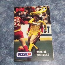 c71a0712a5b Pittsburgh Spirt Schedule indoor Soccer league 1985-86