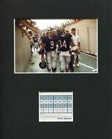 Jim McMahon Chicago Bears Super Bowl Signed Autograph Photo Display W/ Payton