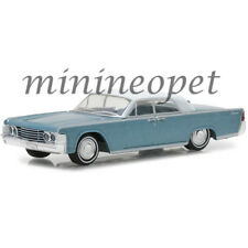 GREENLIGHT 29932 1965 LINCOLN CONTINENTAL 1/64 HURON BLUE with WHITE CLOSED TOP