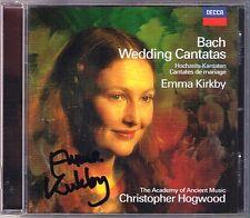 Emma KIRKBY Signed BACH Wedding Cantata CHRISTOPHER HOGWOOD CD Hochzeitskantaten