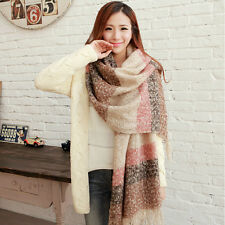 Women's Winter Mohair Shawl Scarf Soft Warm Fashion Casual Multi-color Wraps