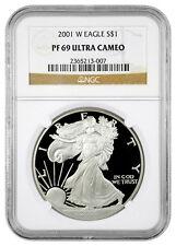 2001-W 1 Oz Proof American Silver Eagle NGC PF69 UC SKU16143
