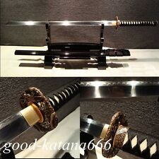 "Clay Tempered Chinese Sword""Tang Jian""T10 Steel Blade Full Tang Sword Very Sharp"