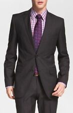 $798 HUGO BOSS Men GRAY 2 BUTTON SUIT JACKET WOOL SPORT BLAZER US 46 R EU 56