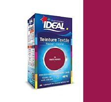 TEINTURE avec FIXATEUR TEXTILE TISSU FRUIT ROUGE 34 IDEAL vetement coton soie