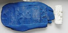 ZURQIEH - cy8- ANCIENT CANAANITE FAIENCE CYLINDER SEAL. 1700 - 1550 B.C
