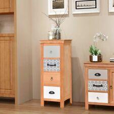 vidaXL Solid Wood Drawer Cabinet 35x35x90cm Storage Furniture Telephone Table