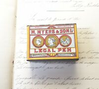 Boite scellée de 144 plumes M Myers & Son Legal Pen #3401 Sealed Box of 144 nibs