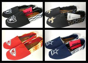 NFL Women's Side Wordmark Canvas Shoes Flats by FoCo