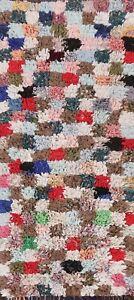 Memorial Deal Thick-Plush Antique Moroccan Oriental Runner Rug Wool Handmade 3x6