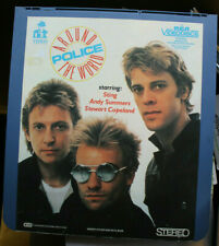 THE POLICE Around the World RCA Selectavision VideoDisc CED Sting Not DVD VHS LD