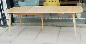 Vintage 1970s extending 'grand plank'  Ercol windsor dining table