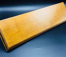 Medium Toned Wood Shelf Wall Hanging Display Knick-Knack 17.5x5x5.5 Decor