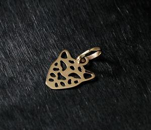 9ct 375 Yellow Gold Leopard Pendant Charm