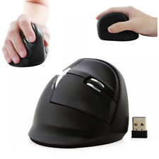 USB 2.4G Wireless Ergonomic Optical upright Vertical Mouse Mice PC Mac Xmas Gift