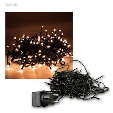 LED Lichterkette 180 Micro LEDs warmweiß 13,5m für Außen & Innen Lichtkette 230V