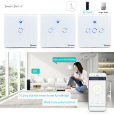 New Smart WiFi RF Sonoff Touch Switch Wall Light Control UK Plug Panel 1 2 3Gang