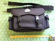 London Fog Black Camera Bag  with Shoulder Strap Fully Functional -Excellent