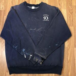 UNH Freshman Crewneck Sweatshirt Adult XL 2XL Blue Vintage 90s Distressed Worn