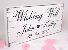 Personalised Wishing Well Free Standing Vintage Wedding Sign Shabby but Chic