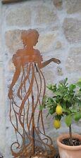 Edelrost Figur Frau Kletterhilfe Kleid Rankgitter Skulptur Dekoration Garten