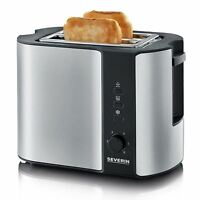 Severin Automatic 2-Slice Toaster + Integrated Bun Warmer AT2589 Stainless Steel