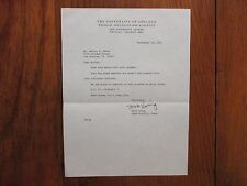 MICK EWING Signed 1983 Personal Letter-University of Chicago Head Football Coach