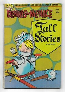 Dennis the Menace Bonus Magazine Series Tall Stories #79 FAWCETT COMIC BOOK 1970