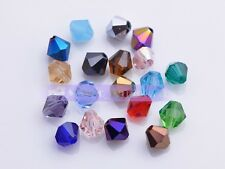 500pcs 4x3mm Wholesale Bicone Faceted Crystal Glass Charms Loose Spacer Beads