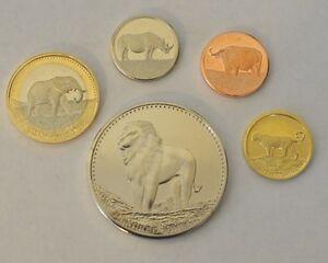 2013 Somalia Five Amazing Animals of Africa 5 Coin Set